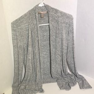 Light Gray & White Marbled Cardigan Sweater